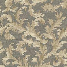 Brown Harper Acanthus Trail Wallpaper