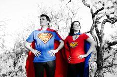 Superhero engagement photos Awesome idea