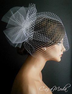 birdcage  VINTAGE veil - $465