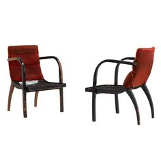 Rare Thonet Bentwood Arm Chairs with stunning patina | From a unique collection of antique and modern armchairs at http://www.1stdibs.com/furniture/seating/armchairs/