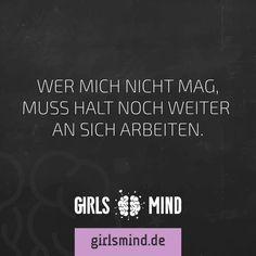 Mehr Sprüche auf: www.girlsheart.de  #selbstbewusstsein #positivdenken #selbstvertrauen
