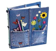 10 New Ways to Upcycle Old Jeans Into Great Gifts! Don't let your old jeans go to waste! Here are 10 ways to upcycle old jeans and all of them would make great presents! I hope this round up Diy Jeans, Jean Crafts, Denim Crafts, Sewing Crafts, Sewing Projects, Craft Projects, Craft Ideas, Project Ideas, Recycling Projects