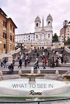 Scalinata della Trinità dei Monti. What to see in Rome, Italy. All places on the map. #rome #italy #travel