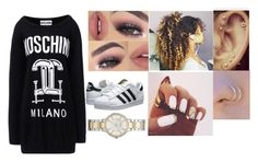 """""""Untitled #339"""" by daijah-melina on Polyvore featuring Moschino, FOSSIL, adidas Originals, women's clothing, women, female, woman, misses and juniors"""