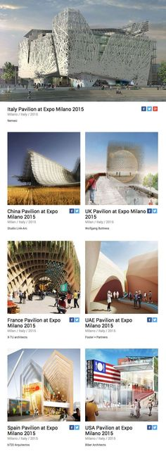 Have you read our latest newsletter yet? It's entirely dedicated to @Expo2015Milano  so you don't want to miss it!  Check out the best pavilions and stories about #pavilion #architecture #expo2015