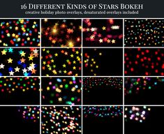 Color Stars Bokeh - Preview