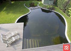 Tuin inspiratie met zwemvijver   tuin ideeen   tuin ontwerp   luxury garden design   Hoog.design