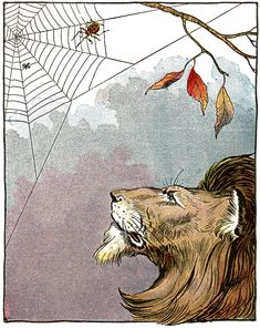 The Lion and the Gnat - Aesop's Fables for Children, 1919