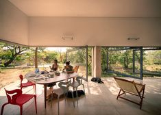 Modern Architecture with Volcanic Stone and Giant Pivoting Glazing   http://www.designrulz.com/design/2016/04/modern-architecture-with-volcanic-stone-and-giant-pivoting-glazing/