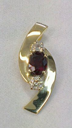 Ruby and Diamond, 9ct pendant steinerjewellery.com