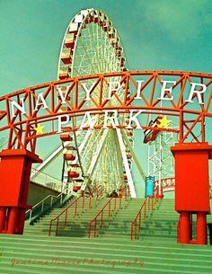 Chicago Navy Pier Ferris Wheel Print