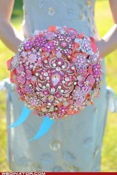 Broach jewel bouquet