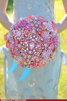 Broach jewel bouquet