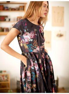Vermeer Floral Print Tencel Dress  - Dresses - WOMEN