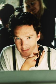 Benedict Cumberbatch (I seriously can't even think of a caption for this one... stares into your soul? does that work? haha)