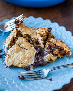 Chocolate Chip Peanut Butter Oatmeal Skillet Cookie.   This one has recipe attached.