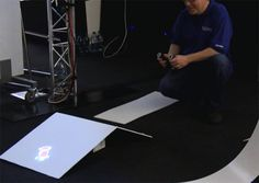 Microsoft Research : Beamatron Augmented Reality Concept via Kinect