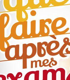 Typographie  #typo #typographie #lettering #idrac #sdc #supdecom #ecole #campus