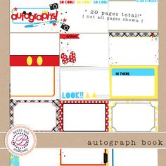 Free Printable Autograph Book!