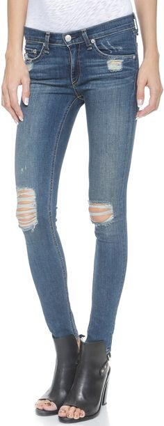 ee9a2807071 33 Best Ripped Knee Jeans images
