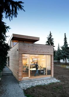 Gallery of corkscrew house / around two architects - 14 Source by Tiny House Cabin, Tiny House Design, My House, Casas Containers, Prefab Homes, Future House, Bungalow, Architecture Design, House Plans