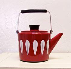vintage Cathrineholm enamel tea kettle  by vintagebyalexkeller, $149.99