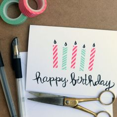 Learn how to make this super easy birthday card with supplies you probably have at home already!