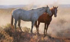 """""""Out of the Fray"""" ~ Tom Browning Horse Portrait, Portrait Art, Pencil Portrait, Portraits, Animal Paintings, Horse Paintings, Pastel Paintings, Pictures Of Jesus Christ, Mediums Of Art"""
