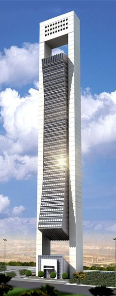 Al Faisal Tower, Doha, Qatar by Diwan Al Emara Architects :: 54 floors, height 227m #modern ☮k☮ #architecture