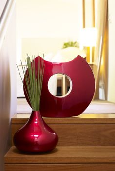 Add the luxe with the Costa Del Sol cut out vase & tear drop vase in red.