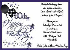 90th Birthday Invitation Wording Samples | 80th Birthday Party Planning Ideas – Decorations