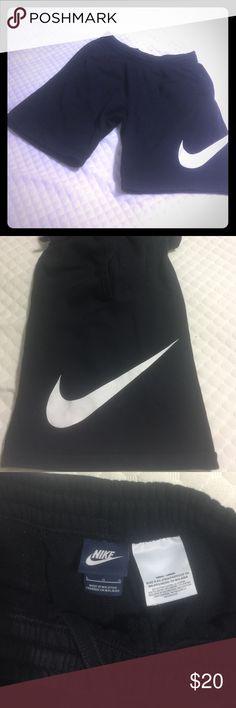 Men's athletic sweatpants shorts Black Nike Men's athletic shorts. Sweatpants material. EUC Nike Shorts Athletic
