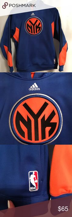 Knicks adidas hoody sweater Material really thick and warm ! Was warn once ! Where's my knick fans at ?! :) adidas Sweaters