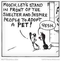 Share a photo of your favorite adopted pet! #AdoptDontShop #MUTTScomics