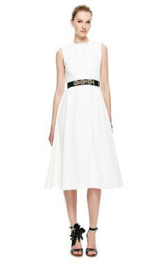 Madaline Heavy Denim Midi Dress by Emilia Wickstead - Moda Operandi