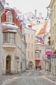 The quaint streets of Tallinn, Estonia! I love Tallinn - JN Places Around The World, The Places Youll Go, Travel Around The World, Places To See, Wonderful Places, Beautiful Places, Beautiful Beautiful, Places To Travel, Travel Destinations