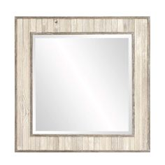 Howard Elliott Sawyer Wood Plank Square Mirror 31H x 31W x 1D - 56172