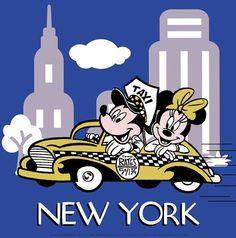 Mickey and Minnie in New York by Walt Disney