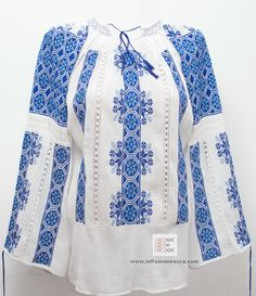 the Romanian folk blouse - 100% handmade embroidery - bohemian top