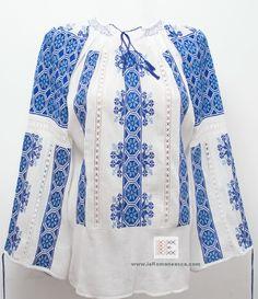 the Romanian folk blouse - 100% handmade embroidery - bohemian top