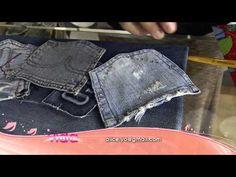 Veja como montar um porta treco feito com bolsos de calça jeans!