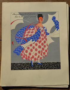 1930.fr Martha Romme. 12 pochoir watercolours signed - Paintings, posters - Art deco sculptures bronze clocks vases