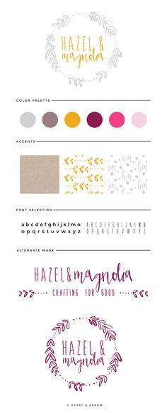 Hazel and Magnolia brand board