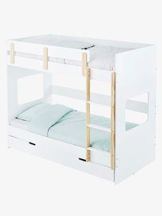 Lits superposés Everest XL - Blanc/bois - 1