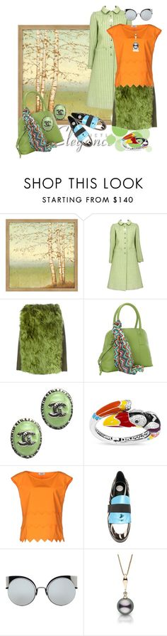 """""""Elegance with a Twist"""" by rita257 ❤ liked on Polyvore featuring Big Fish, Maison Margiela, Hadaki, Chanel, Belle Etoile, Moschino Cheap & Chic, House of Holland and Fendi"""