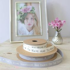 wedding ribbon by ella james | notonthehighstreet.com