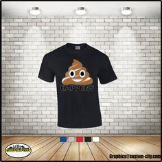 emoji shit happens shirt, emoji poop shirt, emoji shirt,adult shirts,women men shirt,plus size workout,5x shirts,graphic tees,custom apparel - http://Www.Etsy.com/shop/customcityink