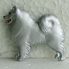 Samoyed Brooch Dog Breed Jewellery Handpainted Handcrafted Resin