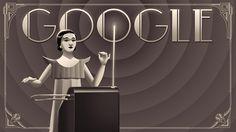 #Google #Logo Remembers Clara Rockmore Theremin