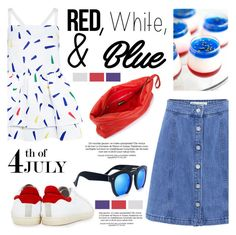 """Red, White and Blue Fashion"" by ifchic ❤ liked on Polyvore featuring Être Cécile, Edit, IRO, MARIOS, Grey Ant, redwhiteandblue, contestentry, july4th and ifchic"